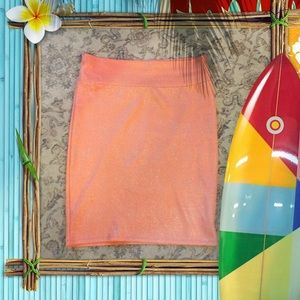 LuLaRoe elegant Cassie bright orange silver SWEET